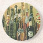 Botellas de cerveza importadas vintage, alcohol, posavaso para bebida