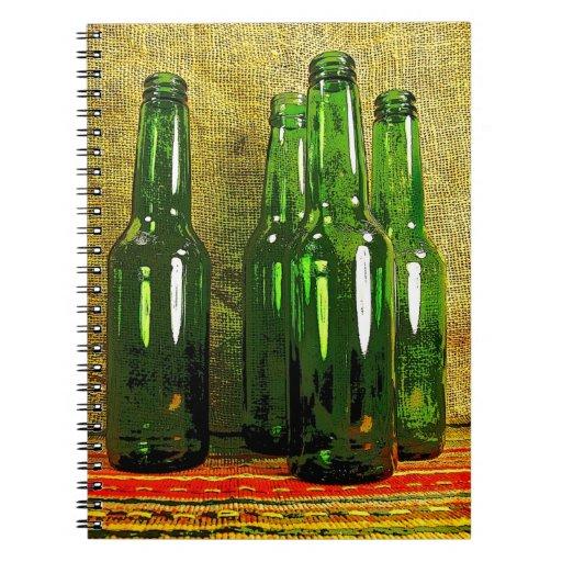 Botellas de cerveza libretas