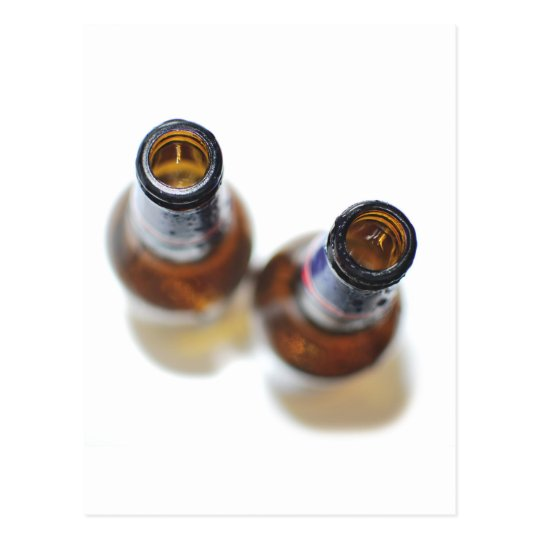 Botellas de cerveza postales