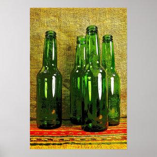 Botellas de cerveza póster