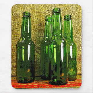 Botellas de cerveza tapete de raton