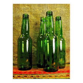 Botellas de cerveza tarjetas postales