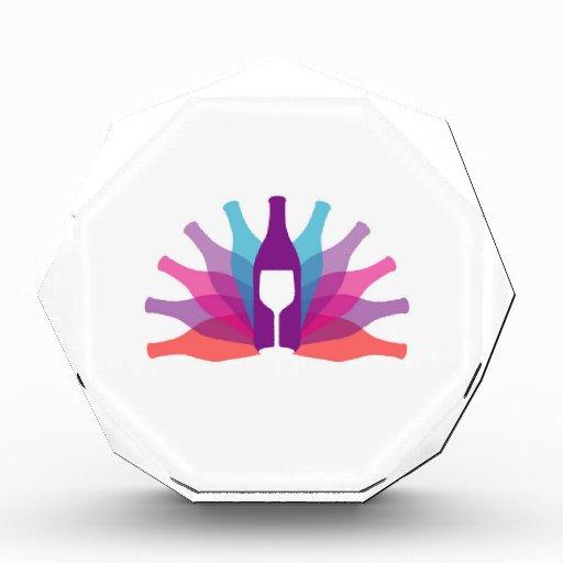 Botellas de cristal y vidrio coloridos