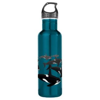 Botellas de encargo del arte de la orca de la orca