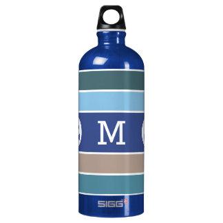 Botellas de encargo del viaje del monograma de las
