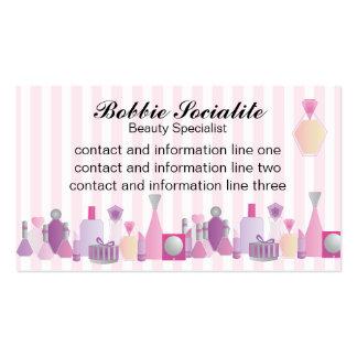 Botellas de la belleza tarjetas de negocios