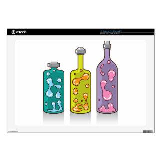 Botellas de la lava. lámparas improvisadas portátil skin
