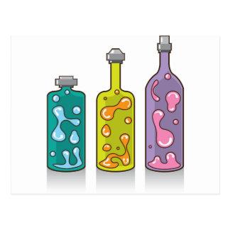 Botellas de la lava. lámparas improvisadas postales