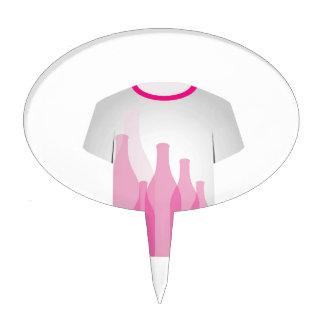 Botellas de la plantilla de la camiseta figuras para tartas