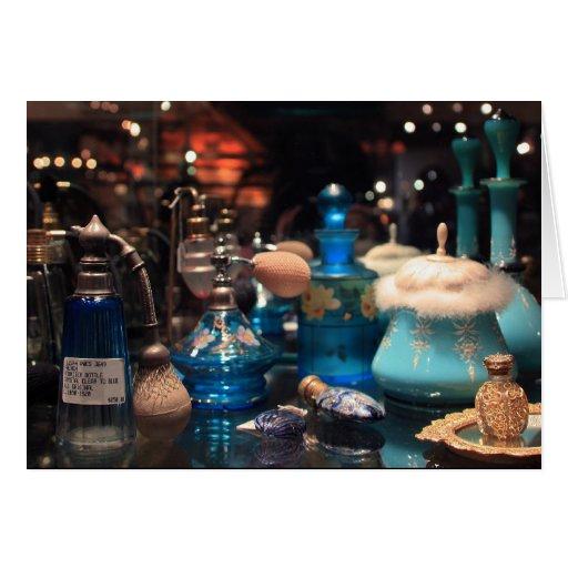 Botellas de perfume antiguas - tarjetas