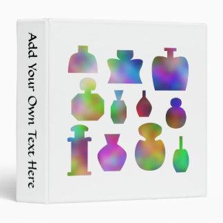 """Botellas de perfume coloridas carpeta 1 1/2"""""""