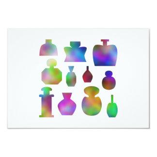 """Botellas de perfume coloridas invitación 3.5"""" x 5"""""""