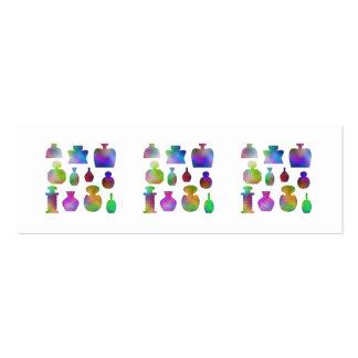 Botellas de perfume coloridas tarjetas de visita mini