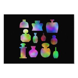 """Botellas de perfume multicoloras invitación 3.5"""" x 5"""""""