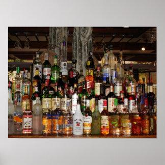 Botellas de poster del alcohol