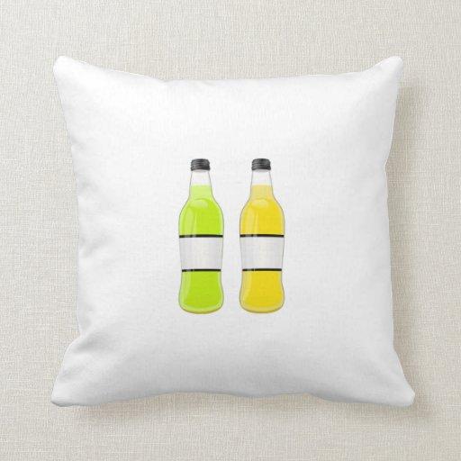 Botellas de soda cojines