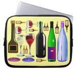 Botellas de vino, crema manga portátil