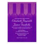 Botellas de vino elegantes que casan invitaciones