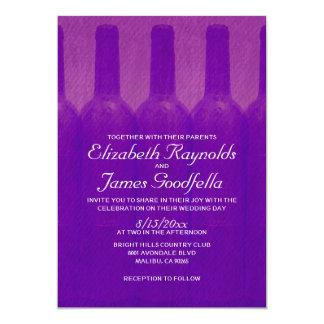 Botellas de vino elegantes que casan invitaciones invitación 12,7 x 17,8 cm