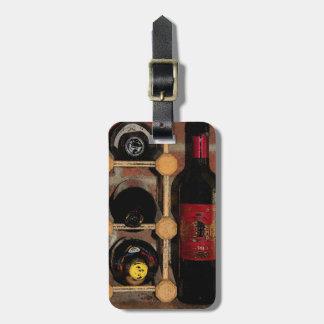Botellas de vino etiqueta de equipaje