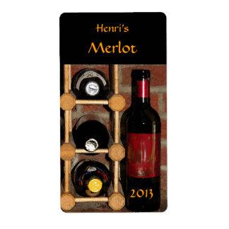 Botellas de vino etiquetas de envío