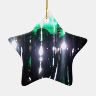 Botellas de vino italianas adorno navideño de cerámica en forma de estrella