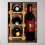 Botellas de vino poster