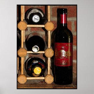 Botellas de vino póster