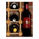 Botellas de vino tarjeta postal