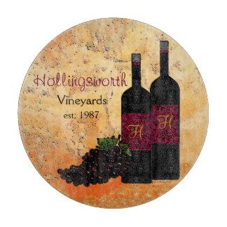 Botellas de vino y estilo Uva-Viejo del mundo Tabla Para Cortar
