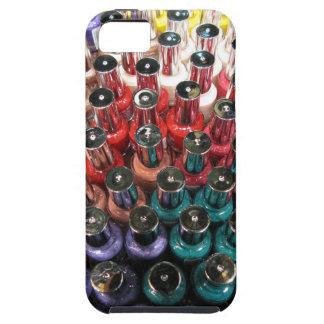 Botellas del esmalte de uñas iPhone 5 carcasas