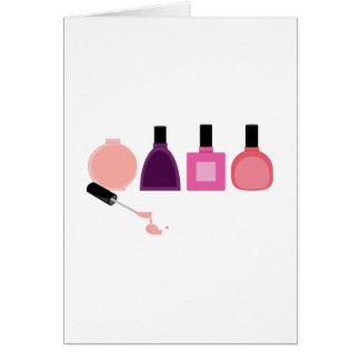 Botellas del esmalte de uñas tarjeta de felicitación