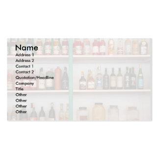 Botellas del licor tarjetas de visita