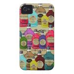 Botellas del tónico de Halloween del boticario de iPhone 4 Case-Mate Cárcasa