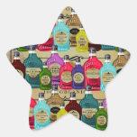 Botellas del tónico de Halloween del boticario de  Calcomania Forma De Estrella Personalizadas