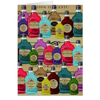 Botellas del tónico de Halloween del boticario de Tarjeta De Felicitación
