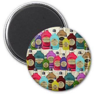 Botellas del tónico del boticario de la poción mág imán de frigorífico