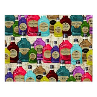 Botellas del tónico del boticario de la poción postales