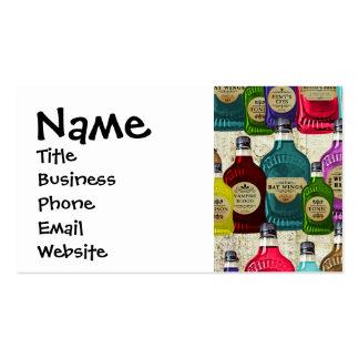Botellas del tónico del boticario de la poción tarjetas de visita