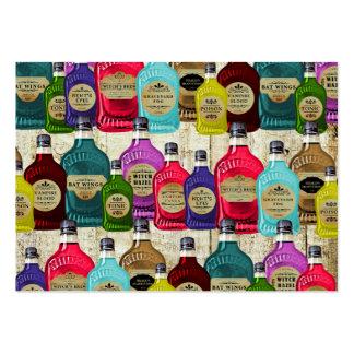Botellas del tónico del boticario de la poción tarjetas de visita grandes