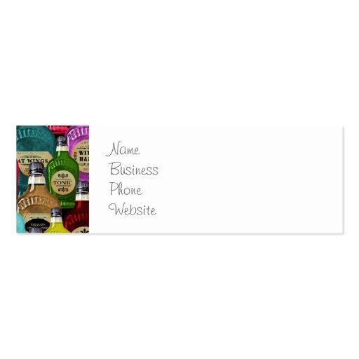 Botellas del tónico del boticario del doctor de br plantilla de tarjeta de negocio