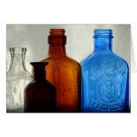 Botellas del vintage felicitación