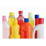 botellas detergentes plásticas tarjeta postal