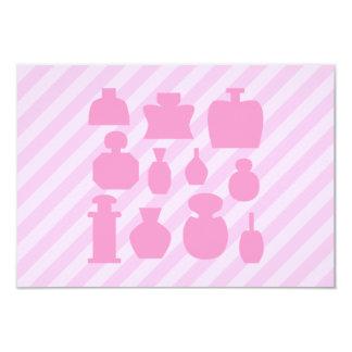 Botellas rosadas del olor invitación 8,9 x 12,7 cm