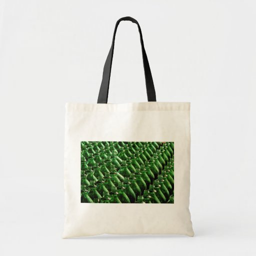 Botellas verdes únicas bolsas de mano