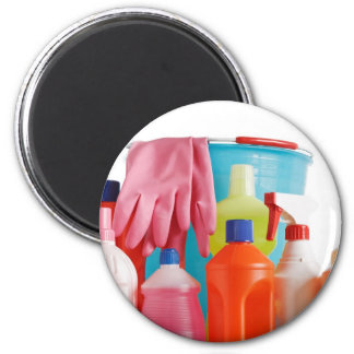botellas y cubo detergentes imanes de nevera