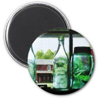 Botellas y tarros de enlatado imán redondo 5 cm
