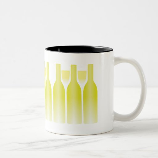 Botellas y vidrios Trompe - l ' oeil del vino blan Taza Dos Tonos