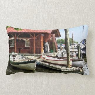 Botes de remos por el parque Alexandría VA de los Cojín Lumbar
