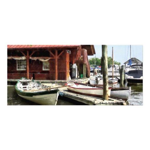 Botes de remos por el parque Alexandría VA de los  Tarjeta Publicitaria Personalizada
